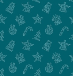 Seamless wallpaper with christmas elements vector