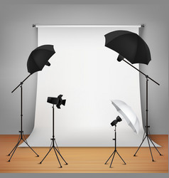Photo studio design concept vector