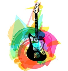 Colorful electric guitar vector