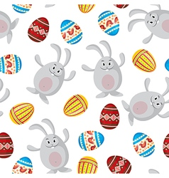 Easter funny pattern vector