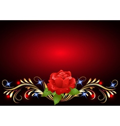 Floral Ornament Background vector image
