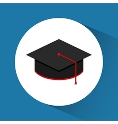 Graduation icon education concept flat vector