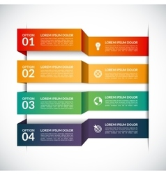 Infographic template with 4 steps parts options vector