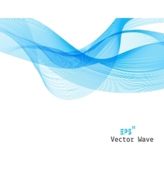 Abstract Blue Wave on Background vector image vector image