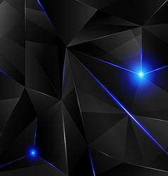Black crystal - blue vector image