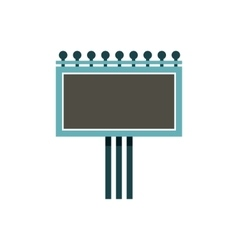 Blank billboard icon flat style vector