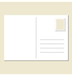 Blank postcard vector image vector image