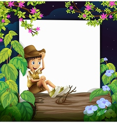 Boy and nature vector image vector image