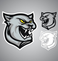 Cat panther logo emblem vector