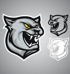 Cat panther logo emblem vector