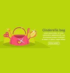 Cinderella bag banner horizontal concept vector