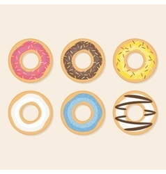 Donut set vector