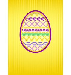 easter card embroidery vector image