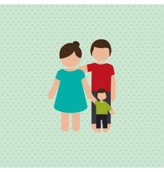 family graphic design vector image