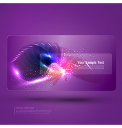glowing purple abstract background with place for vector image vector image