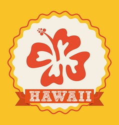 Hawaii flower design vector