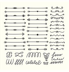 lines borders and dividers hand drawn vector image