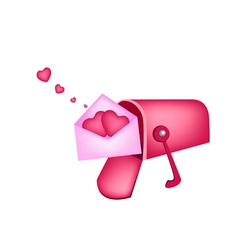 Love letters in mailbox vector
