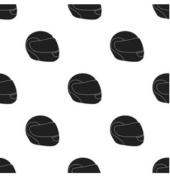 Motorcycle helmet icon black single sport icon vector