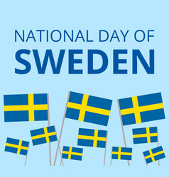 national day of sweden vector image vector image