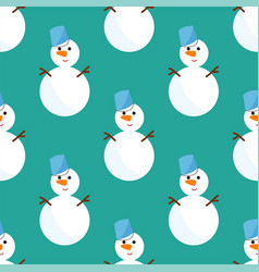 Snowman cold christmas season winter seamless vector