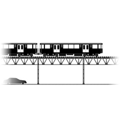 The Elevated Train in Chicago vector image vector image