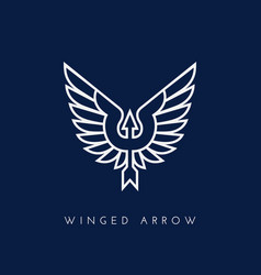 Winged arrow vector