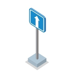 One way traffic - road sign vector