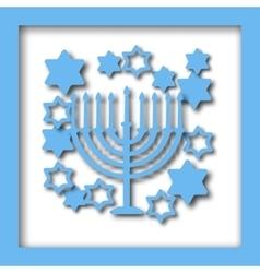 Happy Hanukkah greeting card design vector image