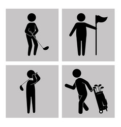 Golf sport golfer emblem icon vector