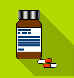 bottle with pills of insulinpills for diabetes vector image