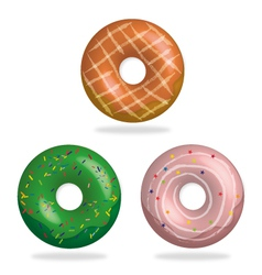 Colorful donuts vector