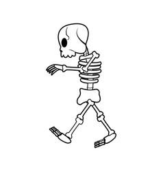 cartoon skeleton bones mystery fairy tale vector image