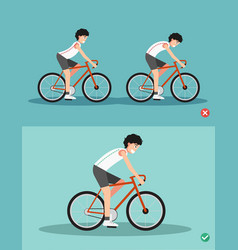 best and worst positions for riding bike vector image