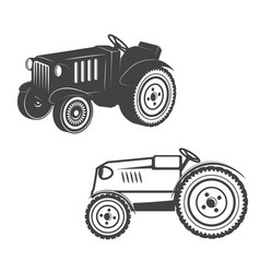 Set of tractors isolated on white background vector
