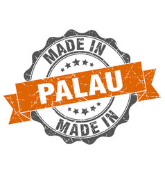 Made in palau round seal vector