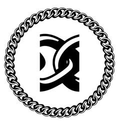 Chain jewel seamless silhouette vector