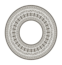 Ornamental round frame vector
