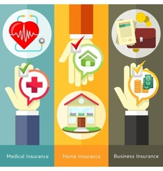 House  business medical and health insurance vector