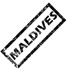 Maldives rubber stamp vector