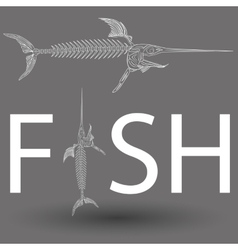 Fish skeleton vector