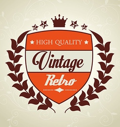 Vintage retro design vector