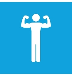 Trained man icon simple vector