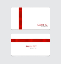 Cards with red ribbon vector