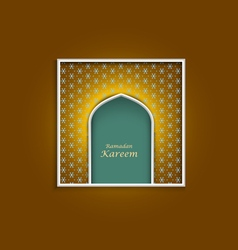 Ramadan kareem greeting card template variation 3 vector