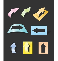Color arrows stickers collection vector image