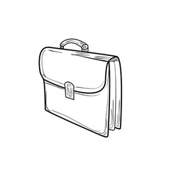 Briefcase sketch icon vector