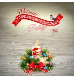 Christmas candle eps 10 vector