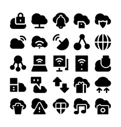 Cloud computing icons 2 vector