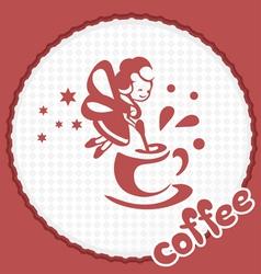 coffee dream vector image vector image
